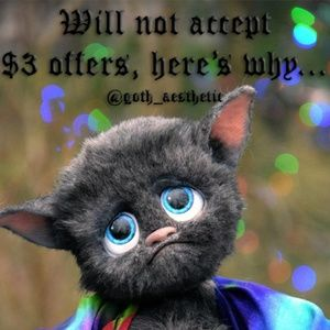 Other - Will not accept $3 offers on single items...